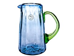 Hand Crafted Luster Blue Pitcher