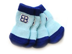 Home Comfort Traction Control Socks Blue/Light Blue