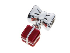 Bow and Dangling Red Package Bead