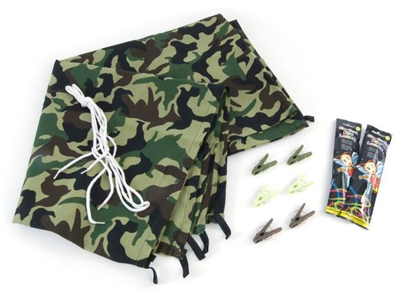 Build-a-Fort Kit comes with practically everything kids need to make their own fort. Use the fabric panels (equipped with loops for stringing), rope, clips and suction cups to make a private playland/5(45).