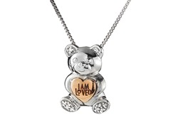 Sterling Silver & 14kt Gold Teddy Bear
