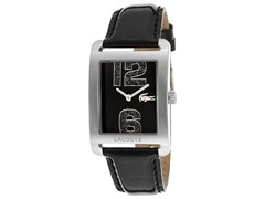 Women's Black Dial Black Glittered Genuine Patent Leather
