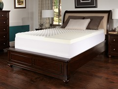 """2"""" Memory Foam Topper with Puff Knit Cover-5 Sizes"""