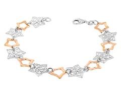 18k Plated 2-Tone Stars Bracelet