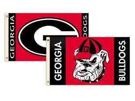NCAA Georgia Bulldogs 2-Sided 3-by-5 Foot Flag with Grommets