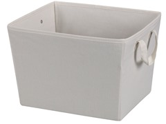 Natural Blended Canvas Medium Tapered Bin