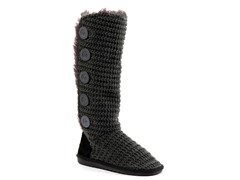 MUK LUKS ® Malena Crotchet Button Up Boot, Grey