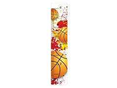 Peel & Stick Growth Chart - Basketball