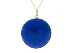 18k Gold Plated Dyed Sapphire Pendant