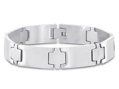 Stainless Steel Flat Link Bracelet