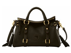 Florentine Mini Satchel, Blk /Black Trim