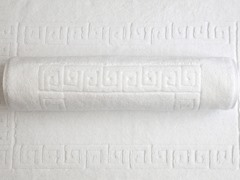 Greek Key Bath Mats - Set of 2 - White