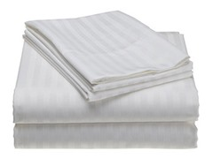 300 Thread Count Cotton Sateen Sheet Set  - White
