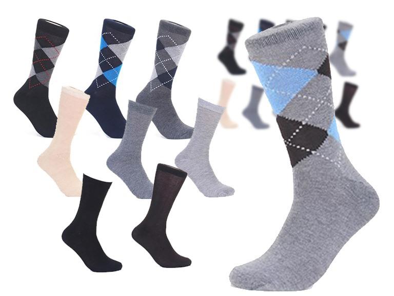 Focus Men's Dress Socks: 12- or 30-Pack