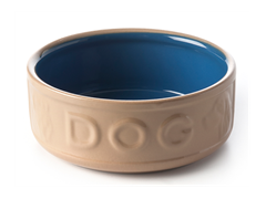 Cane & Blue Dog Bowl 7""