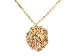 Relic RJ1580710 Gold Glitz Circle Necklace