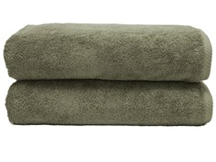 700GSM Soft Twist Bath Sheets-S/2-Olive