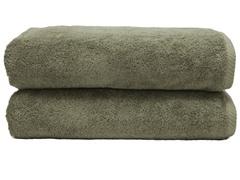 700GSM Soft Twist Bath Sheets-S/2-Olive