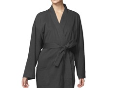 Organic Cotton Jersey Knit Robe-Grey