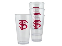 Florida State Plastic Pint Glasses 4-Pk