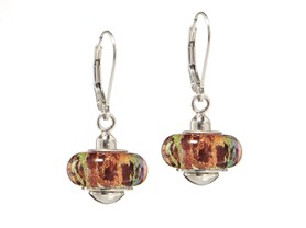 Murano Glass Leverback Earrings, 2 Sets
