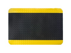 3' Indoor Diamond Mat, Black with Yellow