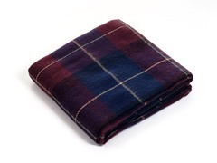 Cashmere-Like Blanket Throw - Blue/Red Plaid