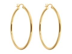 18kt Gold Plated 40mm Hoop Earrings