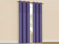 Set of 2: Annecy Grommet Pair Panels Purple