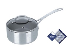 Kevin Dundon 1.5 QT Sauce Pan Silver/Black