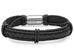 Black Leather Bracelet