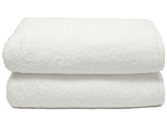 700GSM Soft Twist Bath Towels-S/2-White
