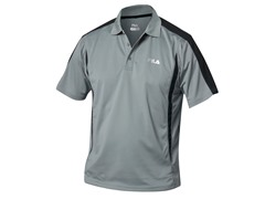 Fila Blocker Polo Shirt, Grey/Black (S)