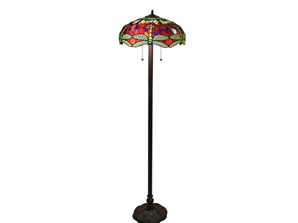 Scarlet Dragonfly Tiffany Style 18 Quot Floor Lamp