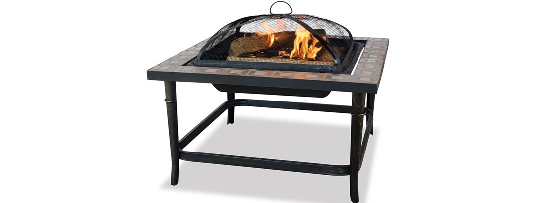 119 99 Blue Rhino Slate Tile Wood Burning Fire Pit With