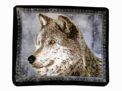 Hi Pile Printed 60x80 Throw-Snowy Wolf