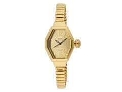 Gold Ion Plated Octagon Watch