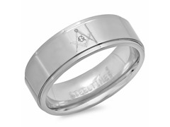 Titanium Masonic Band Ring