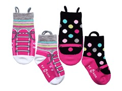 2-Pk Socks - Sneakers & Mary Janes (S-M)