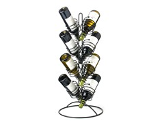 8-Bottle Spring Floor Wine Rack
