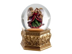 Golden Opulence Angel Water Globe