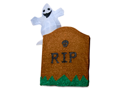 "Tombstone and Ghost Outdoor Decor 27""H"