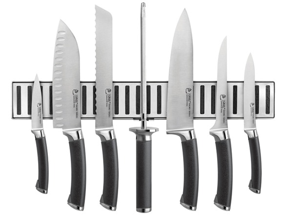 ginsu magnetic strip knife set. Black Bedroom Furniture Sets. Home Design Ideas