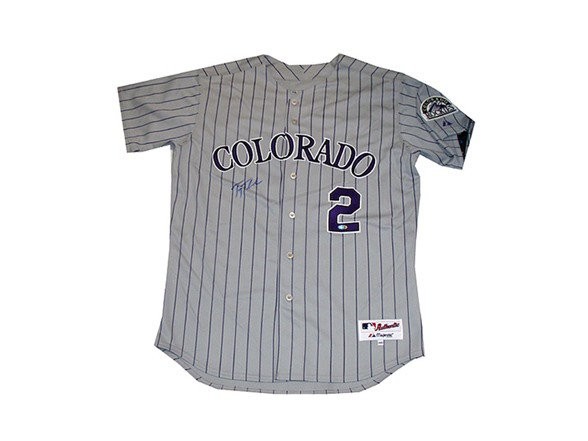 cheap for discount c0899 4f644 Troy Tulowitzki Signed Rockies Jersey