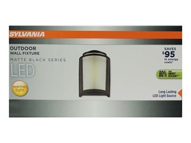 LED Outdoor Wall Fixture, Matte Black