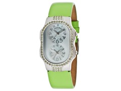 Women's Dual Time Mother of Pearl Watch