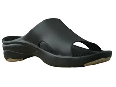 Women's Premium Slide, Black / Tan