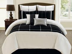 8-Pc Jakson Comforter Set- Black (Multiple Sizes)
