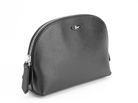 Saffiano Leather Cosmetic Bag