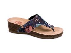 Cara Thong Wedge Sandal, Blue